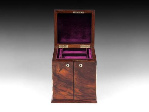 Antique Walnut Jewellery Cabinet