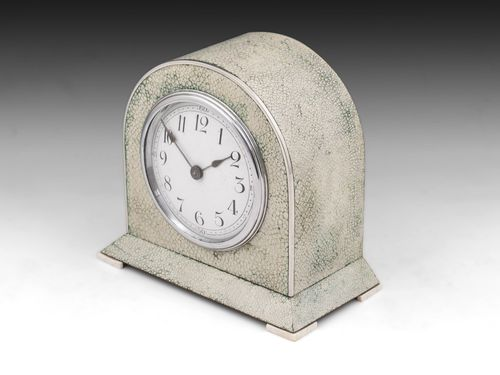 Art Deco Shagreen Mantle Clock