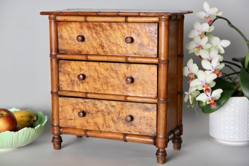 Victorian Faux Bamboo Miniature Chest of Drawers