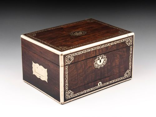 Antique Rosewood Jewellery Box