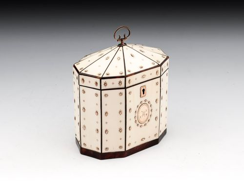 Ivory and Gold Tea Caddy