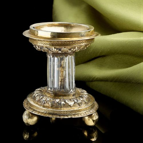 Antique Silver Gilt Standing Salt English 1550