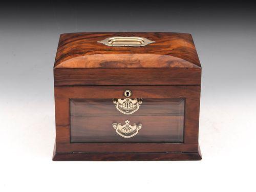 Glazed Walnut Jewellery Box