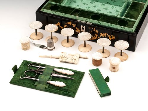Papier Mache Sewing Box