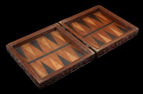 A Rare Sri-Lankan/Portuguese Rosewood Games box; Late 16th/early 17th Century