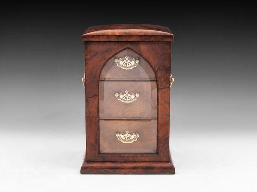 Walnut Jewellery Cabinet