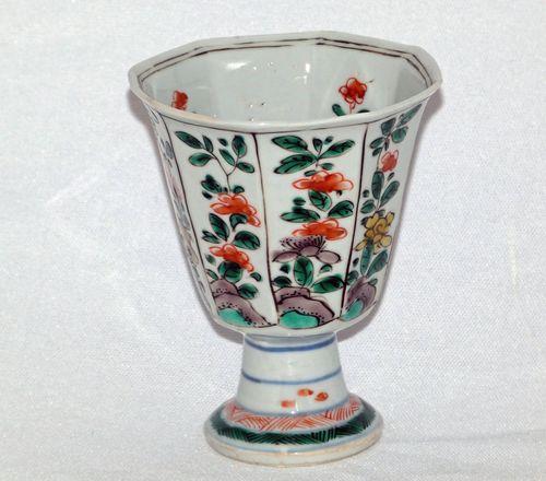 Kangxi Famille Verte Stem Cup