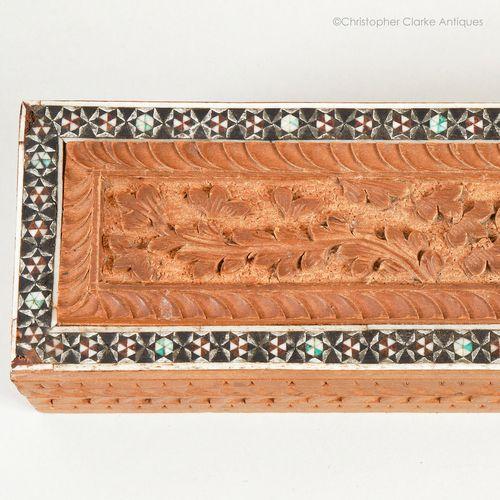 Anglo Indian Sadeli Wood Pen Box.
