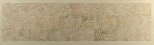 Gilbert Ledward, RA - Design for Decorative Frieze at Eltham Palace - watercolour