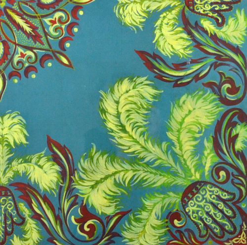 French Textile Design for a Headscarf - Gouache