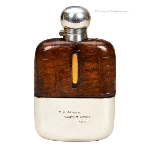 Goldsmiths & Silversmith Co. Spirit or Hip Flask