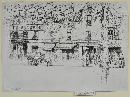 Theodore Roussel, The Street, Chelsea Embankment, etching
