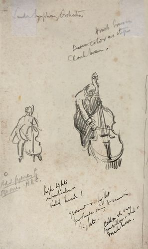 Lord Methuen - The Double Bass - pencil