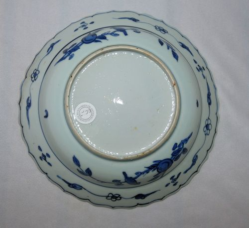 Chinese MingKraak Blue and White Plate