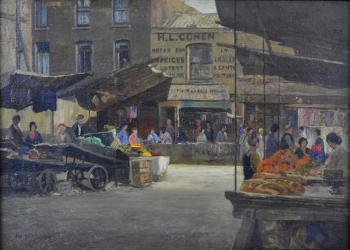 Rex Vicat Cole - Petticoat Lane - oil on panel
