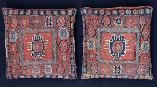 Pair of 19th-century Northwest Persian Soumakh Bags