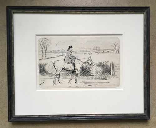 Lionel Edwards - The Welter Weight - pen and ink drawing