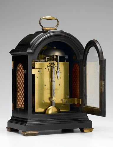 Fine George III ebonised table clock. Circa 1809