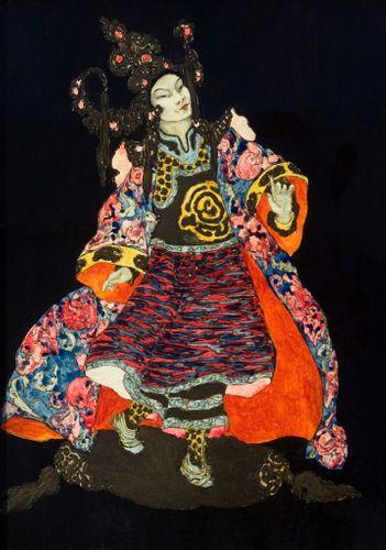 Elyse Ashe Lord - Aladdin - watercolour
