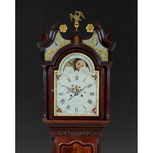 George III Mahogany Longcase Clock by Barwise