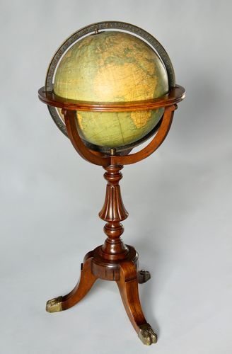 Antique Weber Costello Co. Globe on Stand