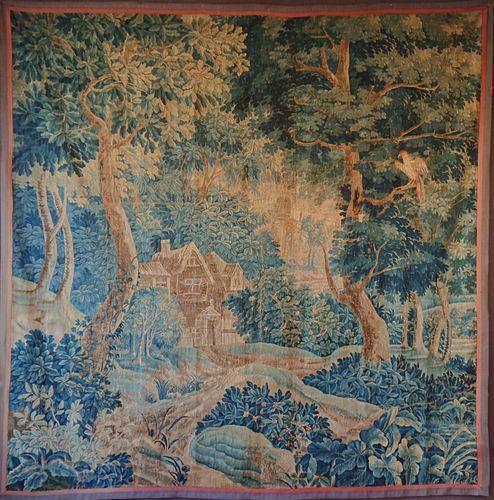 18th-Century French Verdure Tapestry