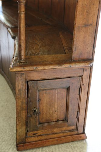 Early 19th Century Pine Box Settle
