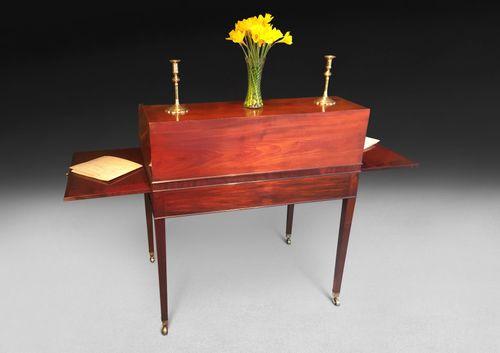George III Period Mahogany Tambour Writing Table