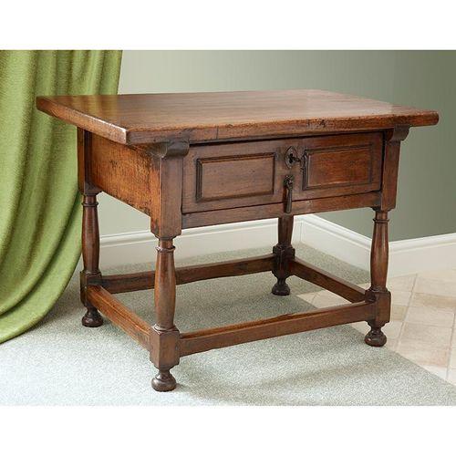 17th Century Spanish Walnut Side Table