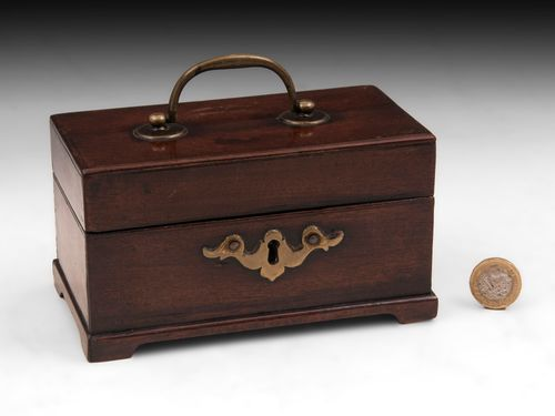 Miniature Antique Tea Caddy