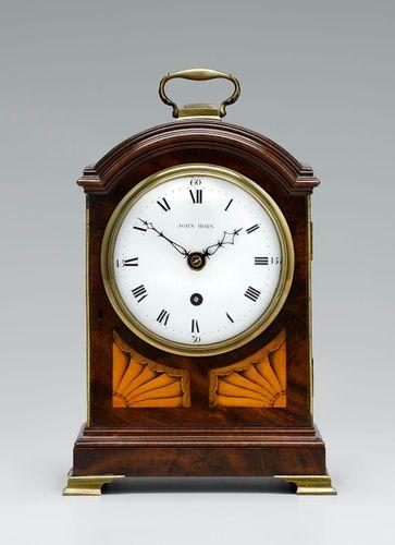 John Horn mahogany mantel clock