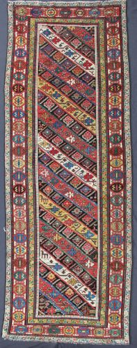 Antique Caucasian Gendje Runner