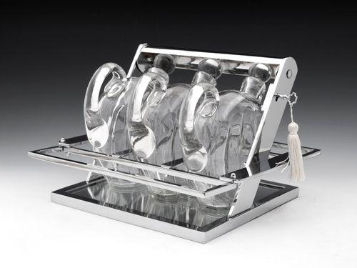 Art Deco Jacques Adnet Chromium Tantalus