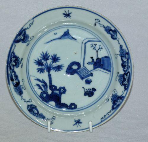 Chinese 17th Century blue and White ming Ko-sometsuke Plate