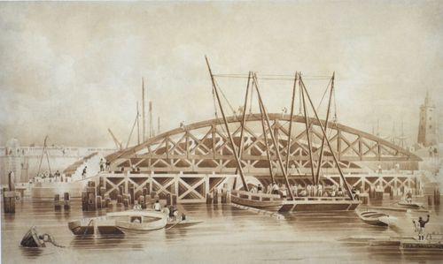 Henry Barlow Carter - London Bridge 1827 - watercolour