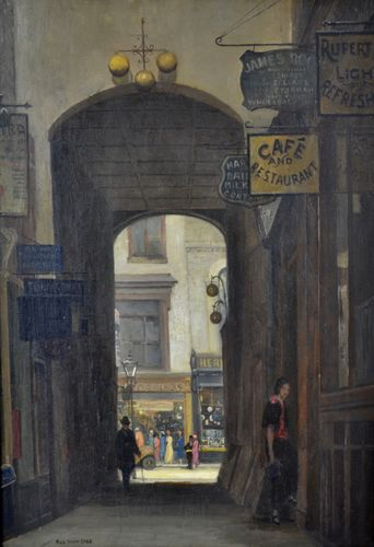 Rex Vicat Cole - Rupert Court, Soho - oil on panel