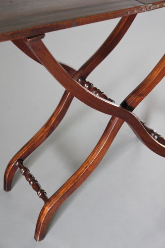 19th Century Mahogany Folding Coaching Table