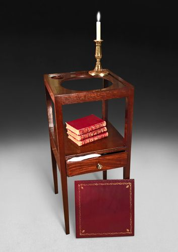 A George III Mahogany Two Tier Washstand