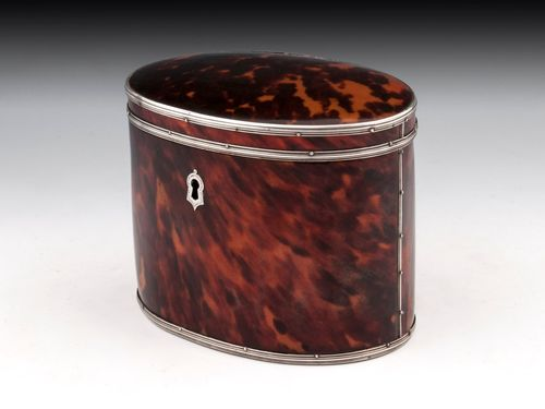 Red Tortoiseshell Tea Caddy