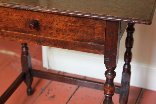 Early 18th Century Oak Side Table