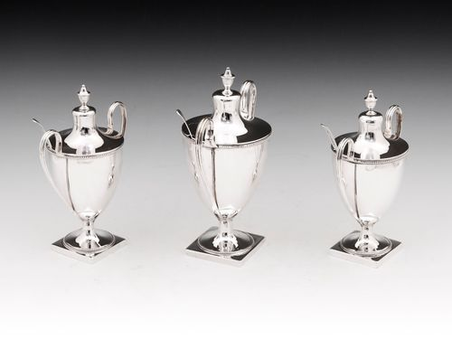 Sterling Silver Condiment Urns