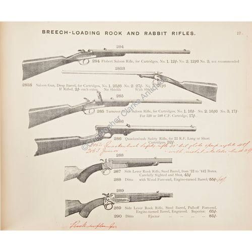 Gun Catalogue For Chas. Osborne & Co. of Birmingham