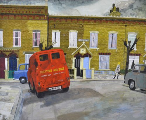 Jim Russell - The Red Van - Watercolour