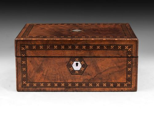 Walnut Tunbridge Jewellery Box