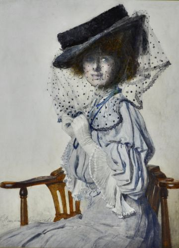 Gertrude Hammond - The Spotted Veil - watercolour