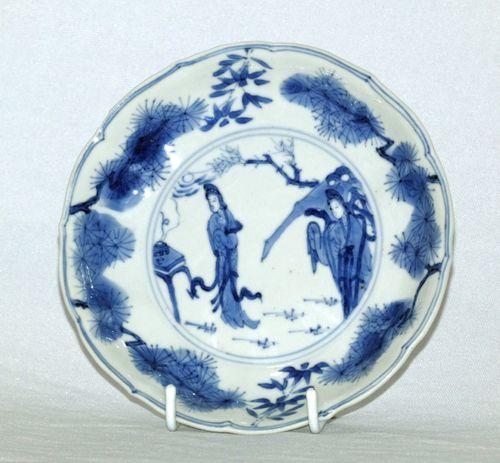 Kangxi Blue and White Porcelain Plate