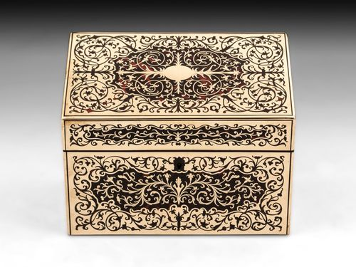 Antique Boulle Stationery Box