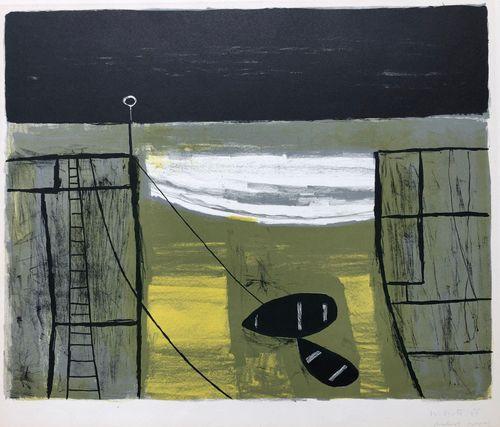 William Scott (1913 - 1989)  Cornish Harbour - Mousehole.