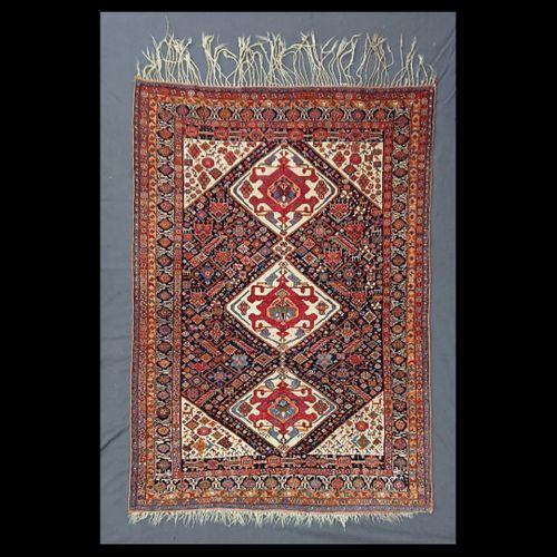 Antique Qashqai Tribal Rug