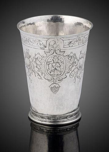 A fine and rare silver beaker, Cologne c.1600